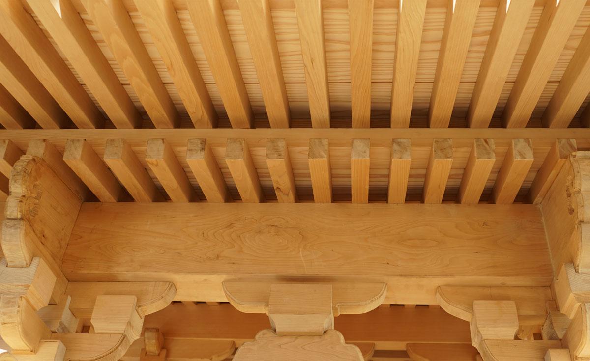 竜神八代屋根の枡組