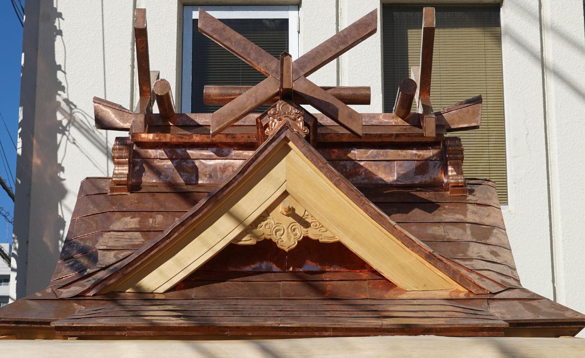 竜神八代の屋根正面