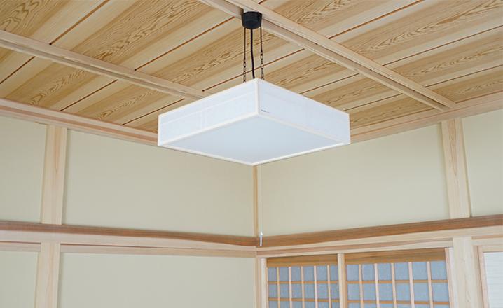木造住宅:那珂市A邸の和室:電灯