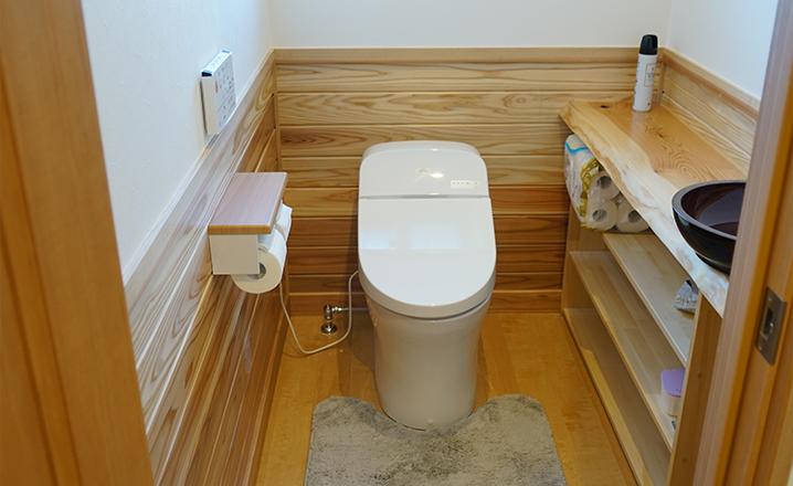 木造住宅:那珂市A邸:トイレ
