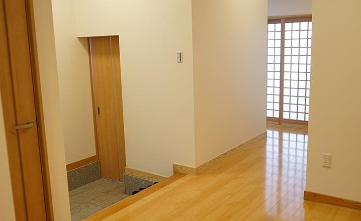 木造住宅:那珂市A邸のホール