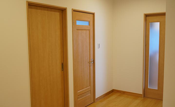 木造住宅:那珂市A邸の廊下