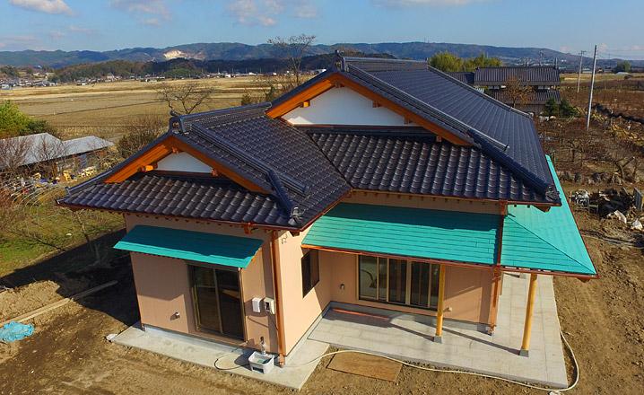 数寄屋造り 中村邸 上空からの写真